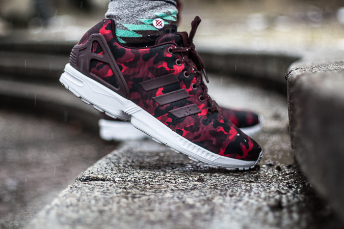 new product e4ab1 4bd48 adidas zx flux red and black and white