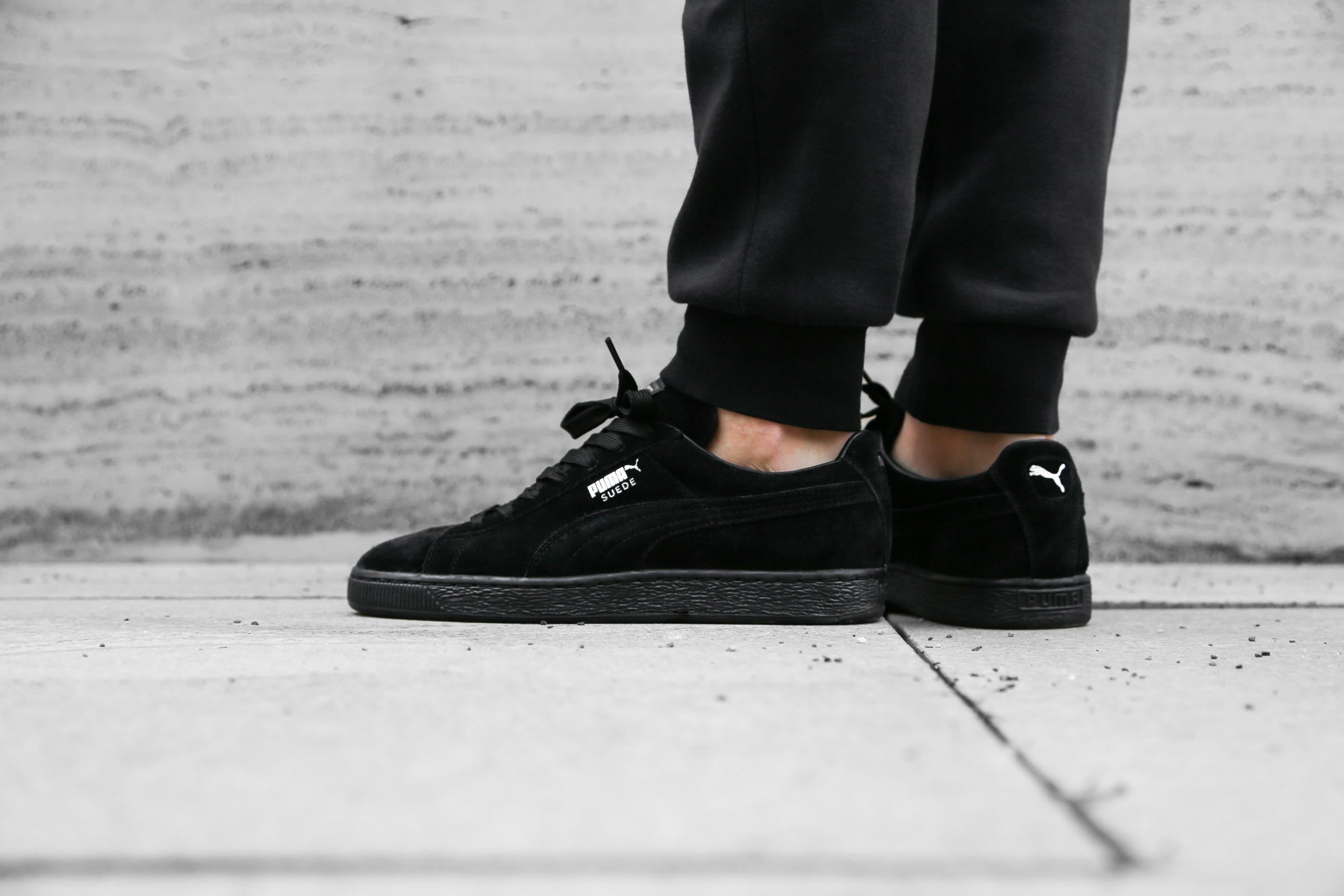 the latest 1c229 87795 puma suede classic all black