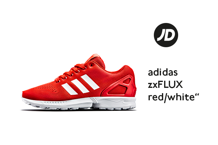 best service 9b60c 4c38c ... discount code for adidas zx flux red white jd sports exclusive b0368  e3a75